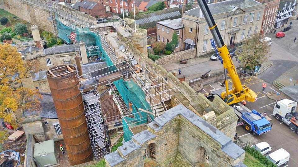 Ballustrade and stainless steel staircase for Lincoln Castle
