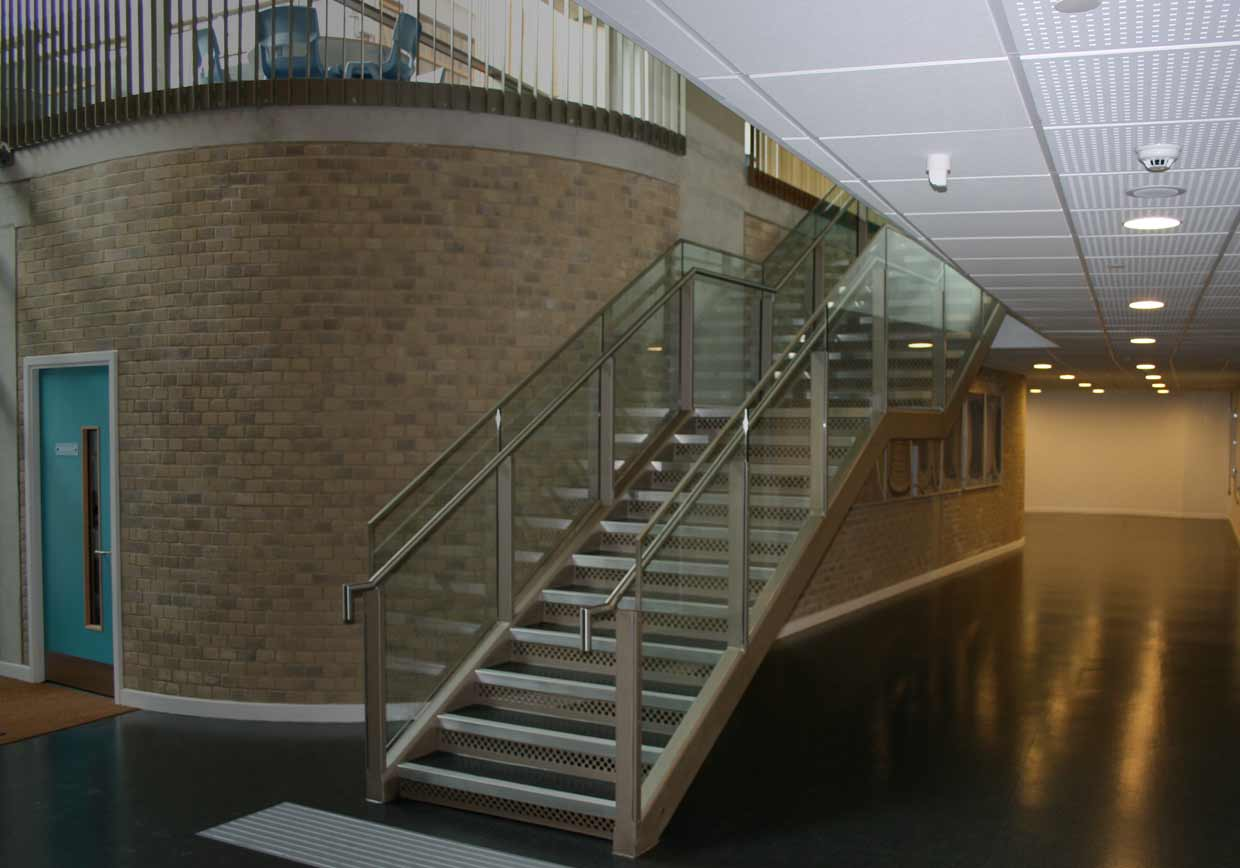 exciting contemporary metalwork for structures such as staircases, bridges, balconies, handrails and balustrades.